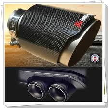 <b>Inlet</b> 54-<b>63mm Outlet</b> 89-114mm Akrapovic Carbon Fiber Exhaust ...