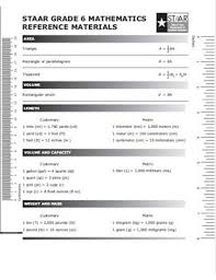 6th Grade Staar Chart 6th Grade Math Teks Cheat Sheet Math Chart For 6th Grade