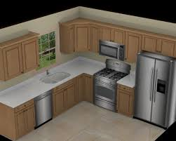 L Shaped Kitchen Kitchen Awesome L Shape White Marble 10x10 3d Kitchen Plan With