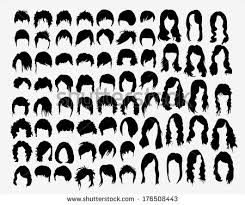 Hairstyle Names For Women vector set womens hairstyles stock vector 176508443 shutterstock 7198 by stevesalt.us