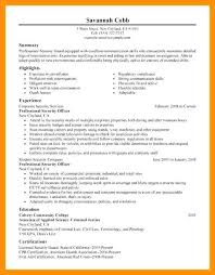 Security Guard Resume Examples Fresh Security Job Resumes Examples