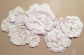 interior white flower wall decor home bedroom beneficial primary 11 white flower wall decor
