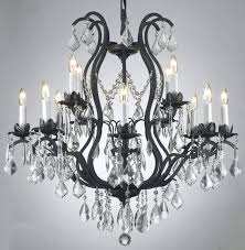 wrought iron chandeliers with crystal accents image of antique black peaceful modern home 5