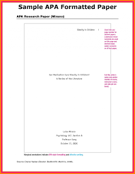 The Basics Of H Paper Format College Samples Apa Example Sample Pa