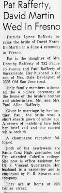 Married Pat. Carpenter employed by FB Stearns and Co. 6/16/66 -  Newspapers.com