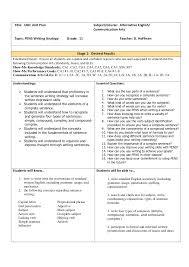pens lesson plan title ubd unit plan