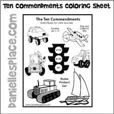 Small Picture Ten Commandments Crafts and Games for Sunday School and Childrens