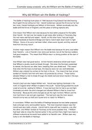 exemplar essay analysis why did william win the battle of exemplar essay analysis why did william win the battle of hastings power and conflict in the medieval period