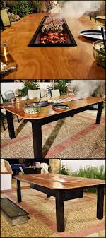 How to build a barbecue grill and table combo