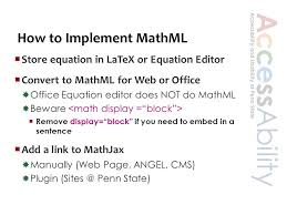 13 how to implement mathml equation in latex or equation editor convert