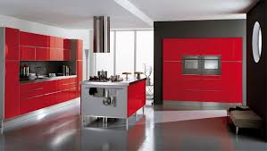 black and red kitchen design. ala cucine red italian kitchen black and design