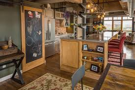 view in gallery chalkboard door and barn door track create a dynamic message board in the kitchen design