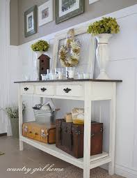 foyer table with storage. Foyer Table (I Like The Idea Of Using Vintage Luggage For Storage.) With Storage