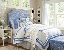 dark blue bedrooms for girls. Fascinate Blue Headborad White Navy Duvet Teen Girl Bedroom Image Dark Bedrooms For Girls B