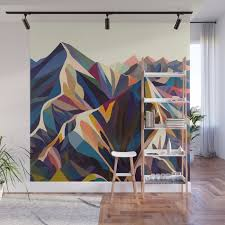 mountains original wall mural by