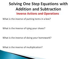 3 solving one step equations with addition and subtraction