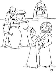 Kinderwoorddienst Kleurplaat De Bruiloft In Kana