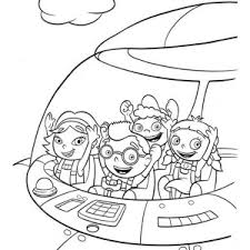 Small Picture Quincy Leo Annie and June in Little Einsteins Rocket Coloring Page