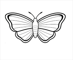 Butterfly Cake Template Printable Beautiful Butterfly With Stripes