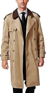men s fashion coats trenchcoats tan trenchcoats haggar classic fit double ted trench coat