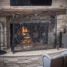 black iron ornate fireplace screen 44 75 x 35 5 h
