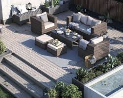 2 seater rattan garden sofa set