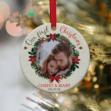 Custom Design Ornaments Our First Christmas Newlywed Personalized Christmas Ornament