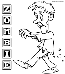 Zombie coloring pages | Coloring pages to download and print