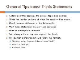 easy steps to a great thesis ppt video online 3 general