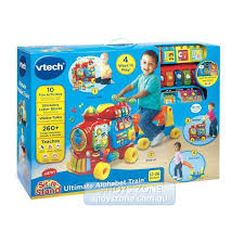 vtech push walker ride alphabet train light sound educational learning toy