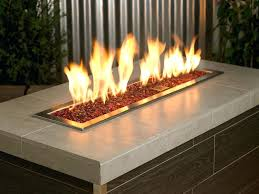 gas fire pit with glass rocks fortkochi me regard to remodel 19