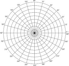 Polar Grid In Degrees With Radius 9 Clipart Etc