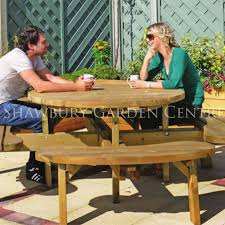 picture of grange round picnic table