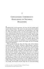 conclusion community resilience in natural disasters springer community resilience in natural disasters community resilience in natural disasters