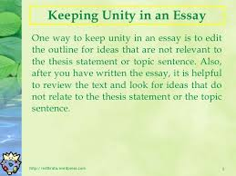 essay writing unity and coherence