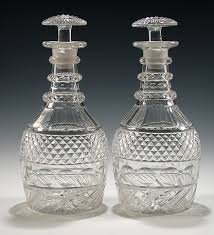 pair of regency anglo irish cut glass decanters m ford creech antiques