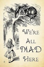 Alice In Wonderland Quote Unique Alice In Wonderland Quote We're All Mad Here Cheshire Cat Quote