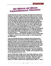 of mice of men loneliness theme gcse english marked by  page 1 zoom in