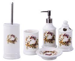 Vintage Badset Badezimmer Zubehör Set Seifenspender Wc Bürste