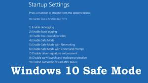 windows 10 safe mode how to boot into safe mode on windows 10 3 ways