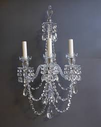 elegant antique crystal chandelier style 3 candles lighting wall sconce of bathroom