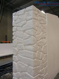 styrofoam stone wall panels custom faux stacked stone column for exterior sign under construction interior decoration living room
