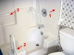 where one can install grab bars in a tub or shower