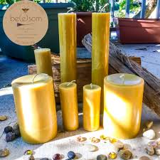 Pure Beeswax Pillar Candles Made With Local Georgia