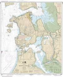 Estero Bay Depth Chart 18427 Anacortes To Skagit Bay Nautical Chart