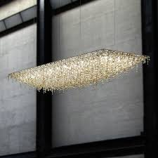 original design chandelier crystal halogen handmade ugolino rectangular