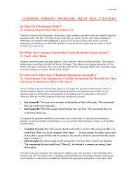 Common Format Problems With Mla Citation Q