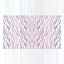 hipster blush pink gray abstract zebra animal print rug ikea