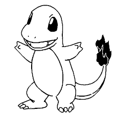 Small Picture Coloring Pages Pokemon Charmander Drawings Pokemon