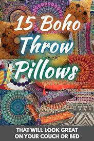 15 boho throw pillows that will look